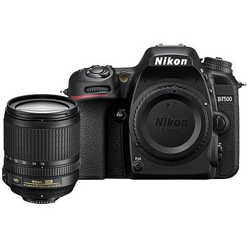 Nikon D7500 černý + objektiv 18-105mm VR (VBA510K001) + ZDARMA Fotobatoh Rollei Canyon L - 35L šedivo-oranžový Grafický software Zoner Photo Studio 18 PRO