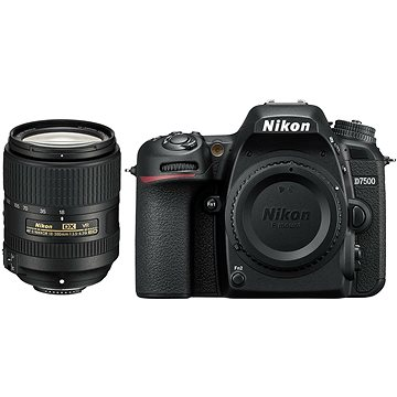 Nikon D7500 černý + objektiv 18-300mm VR f/6,3 (VBA510K004) + ZDARMA Grafický software Zoner Photo Studio 18 PRO