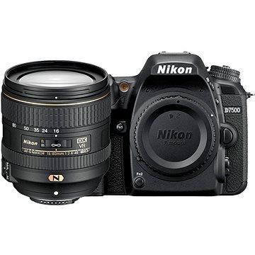 Nikon D7500 černý + objektiv 16 - 80mm (VBA510K005) + ZDARMA Fotobatoh Rollei Canyon L - 35L šedi
