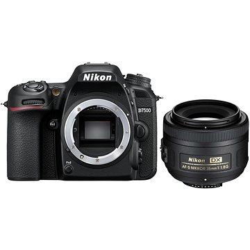 Nikon D7500 černý + objektiv 35mm DX (VBA510K007) + ZDARMA Grafický software Zoner Photo Studio 18 PRO