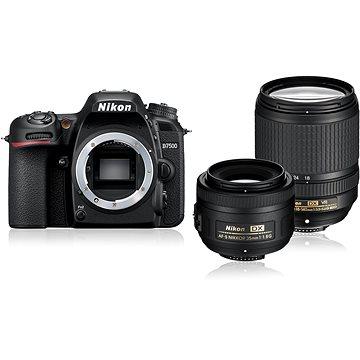 Nikon D7500 černý + objektiv 18 - 140mm + objektiv 35mm DX (VBA510K008)