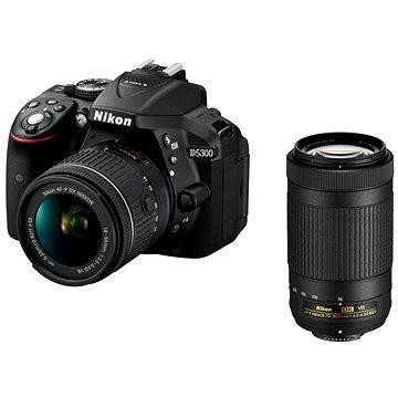 Nikon D5300 černý + 18-55mm AF-P VR + 70-300mm AF-P VR (VBA370K015)