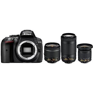 Nikon D5300 černý + 18-55mm AF-P VR + 70-300mm AF-P VR + 10-20mm VR