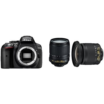 Nikon D5300 + 18-105 AF-S VR + objektiv 10-20mm AF-P VR + ZDARMA Grafická aplikace ZONER Photo Studio X (DE) Grafická aplikace ZONER Photo Studio X (EN)