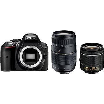 Nikon D5300 + Objektiv 18-55 AF-P VR + Tamron 70-300 Macro