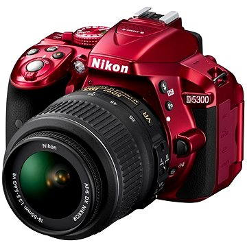 Nikon D5300 RED + Objektiv 18-55 AF-P VR (VBA371K004)