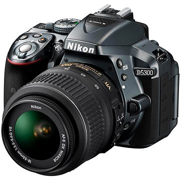 Nikon D5300 GREY + Objektiv 18-55 AF-P VR (VBA372K004)