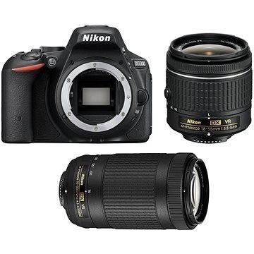 Nikon D5500 černý + 18-55mm AF-P VR + 70-300mm AF-P VR (VBA440K019)