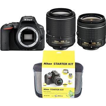 Nikon D5500 + Objektiv 18-55 AF-P VR + 55-200 VR II + Nikon Starter Kit