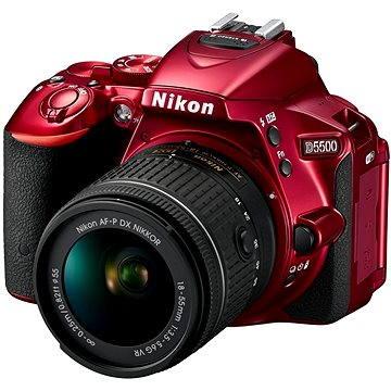 Nikon D5500 RED + Objektiv 18-55 AF-P VR (VBA441K003)