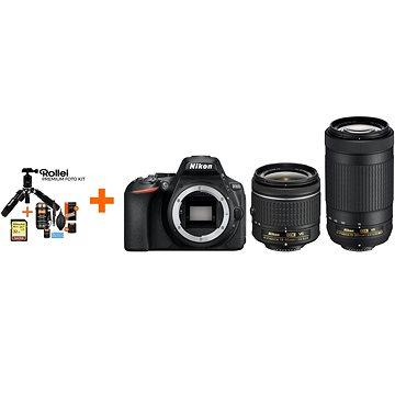 Nikon D5600 + AF-P 18-55mm VR + 70-300mm VR + Rollei Premium Starter Kit