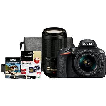 Nikon D5600 + AF-P 18-55mm VR + 70-300mm VR + Nikon Starter Kit + ZDARMA Grafická aplikace ZONER Photo Studio X (DE) Grafická aplikace ZONER Photo Studio X (EN)