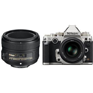 Nikon DF tělo stříbrné + objektiv Nikkor G 50mm f/1,8 AF-S (VBA381K001)
