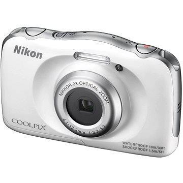 Nikon COOLPIX S33 bílý (VNA850E1) + ZDARMA Paměťová karta Toshiba SDHC Flash Air 8GB class 10