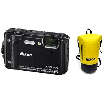 Nikon COOLPIX W300 černý Holiday Kit (VQA070K001)