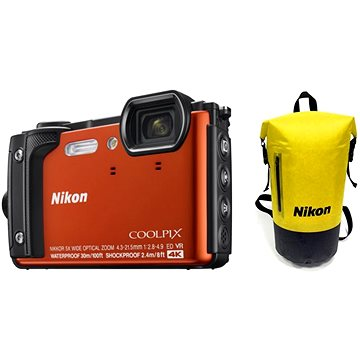Nikon COOLPIX W300 oranžový Holiday Kit (VQA071K001)