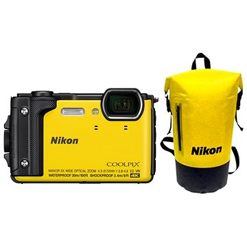Nikon COOLPIX W300 žlutý Holiday Kit (VQA072K001)