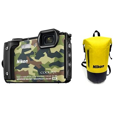 Nikon COOLPIX W300 maskáčový Holiday Kit (VQA073K001)