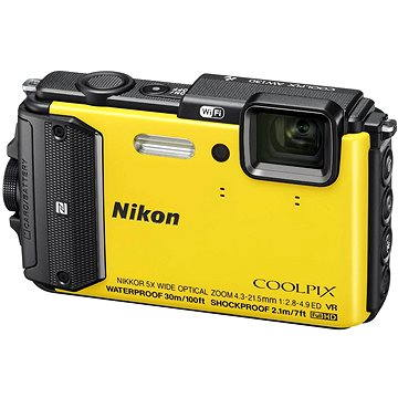Nikon COOLPIX AW130 žlutý (VNA844E1) + ZDARMA Poukaz Elektronický dárkový poukaz Alza.cz v hodnotě 500 Kč, platnost do 28/2/2017