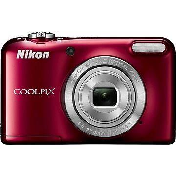 Nikon COOLPIX L31 červený + nabíječka + 2X AA baterie (VNA872E1)