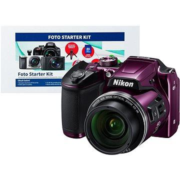 Nikon COOLPIX B500 fialový + Alza Foto Starter Kit + ZDARMA Plnitelný rozprašovač parfémů TRAVALO Refill Atomizer Classic HD 5 ml Titan