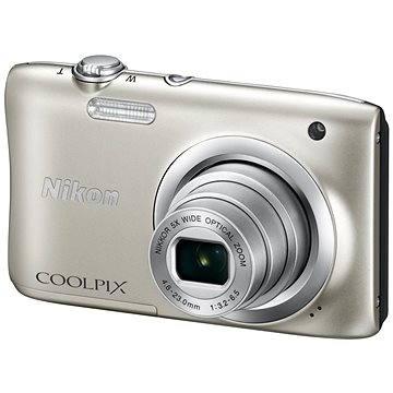 Nikon COOLPIX A100 stříbrný (VNA970E1) + ZDARMA Hlavolam Fidget Spinner zelený + časopis