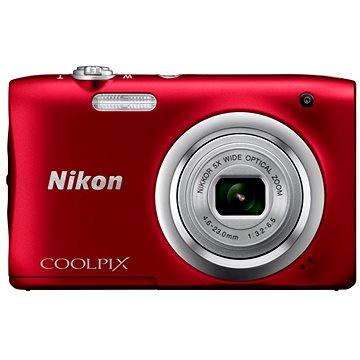 Nikon COOLPIX A100 červený (VNA972E1) + ZDARMA Hlavolam Fidget Spinner zelený + časopis