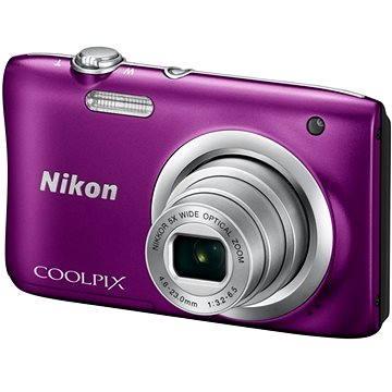 Nikon COOLPIX A100 fialový (VNA973E1) + ZDARMA Hlavolam Fidget Spinner zelený + časopis