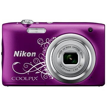 Nikon COOLPIX A100 fialový lineart (VNA974E1) + ZDARMA Hlavolam Fidget Spinner zelený + časopis