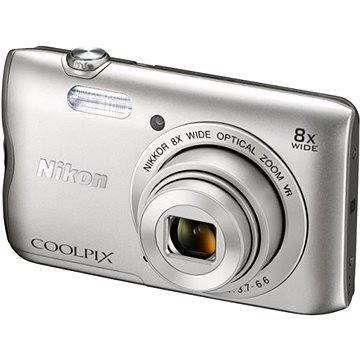 Nikon COOLPIX A300 stříbrný (VNA960E1) + ZDARMA Stativ Rollei Monkey Pod Černý Hlavolam Fidget Spinner zelený + časopis
