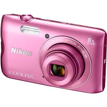Nikon COOLPIX A300 růžový (VNA962E1) + ZDARMA Hlavolam Fidget Spinner zelený + časopis