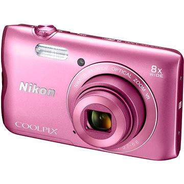 Nikon COOLPIX A300 růžový (VNA962E1) + ZDARMA Stativ Rollei Monkey Pod Černý