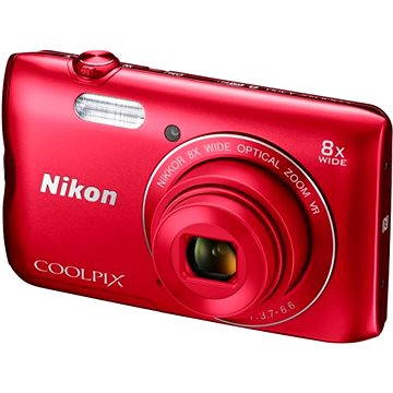 Nikon COOLPIX A300 červený (VNA963E1) + ZDARMA Stativ Rollei Monkey Pod Černý Hlavolam Fidget Spinner zelený + časopis