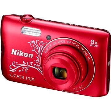 Nikon COOLPIX A300 červený lineart (VNA964E1) + ZDARMA Stativ Rollei Monkey Pod Černý