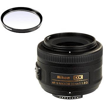 NIKKOR 35mm f/1.8 AF-S DX + UV filtr Hama 0-HAZE