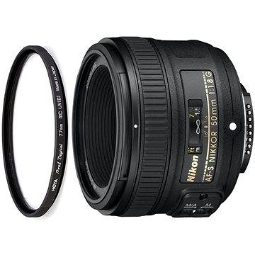 NIKKOR 50mm f/1.8G AF-S + UV filtr HOYA 58mm PRO 1D DHMC