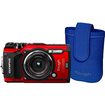 Olympus TOUGH TG-5 červený + Tough Neoprene Case (V104190RE010)