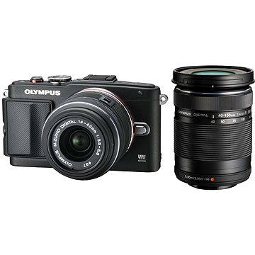 Olympus PEN E-PL6 + objektiv 14-42mm II R + objektiv 40-150mm R černý/černý (V205052BE000)
