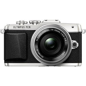Olympus PEN E-PL7 stříbrný + objektiv 14-42mm Pancake Zoom (V205073SE001)