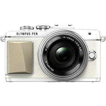 Olympus PEN E-PL7 bílý + objektiv 14-42mm Pancake Zoom (V205073WE001) + ZDARMA Popruh Olympus ramenní dámský Feel Boho