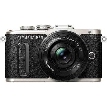 Olympus PEN E-PL8 černý + Pancake objektiv ED 14-42EZ černý (V205082BE000)