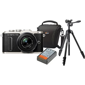 Olympus PEN E-PL8 černý + Pancake objektiv ED 14-42EZ černý + Olympus Starter Kit + ZDARMA Paměťová karta SanDisk SDHC 32GB Ultra Class 10 UHS-I
