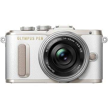 Olympus PEN E-PL8 bílý + Pancake objektiv ED 14-42EZ stříbrný (V205082WE000)