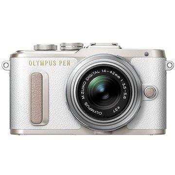 Olympus PEN E-PL8 bílý + objektiv ED 14-42 II R stříbrný (V205081WE000)
