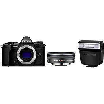 Olympus E-M5 Mark II BODY + objektiv 14-42mm EZ černý/černý (V207044BE000) + ZDARMA Poukaz Elektronický dárkový poukaz Alza.cz v hodnotě 1000 Kč, platnost do 28/2/2017 Brašna na fotoaparát Lowepro Format 110 černý