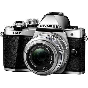Olympus E-M10 Mark II silver/silver + 14-42mm II R (V207051SE000) + ZDARMA Brašna na fotoaparát Lowepro Format 110 černý