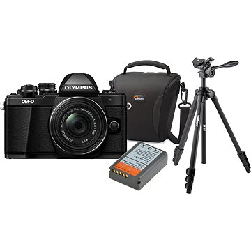 Olympus E-M10 Mark II black/black + ED 14-42mm EZ + Olympus Starter Kit