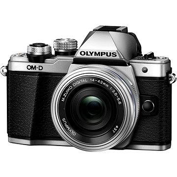 Olympus E-M10 Mark II silver/silver + ED 14-42mm EZ (V207052SE000) + ZDARMA Paměťová karta SanDisk SDHC 32GB Ultra Class 10 UHS-I