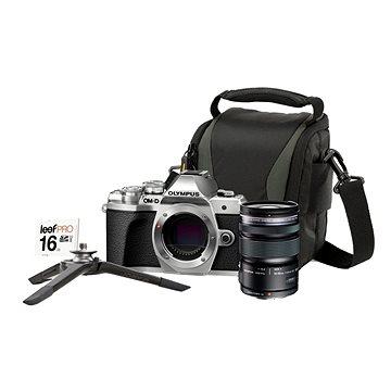 Olympus E-M10 Mark III stříbrné + M. ZUIKO DIGITAL ED 12-50 mm f/3.5-6.3 EZ + Lens memory kit