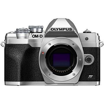 Olympus OM-D E-M10 Mark IV tělo stříbrný (V207130SE000)